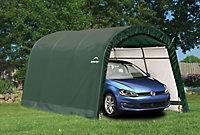 15x10 Shelterlogic Round top Tubular steel frame Auto Shelter