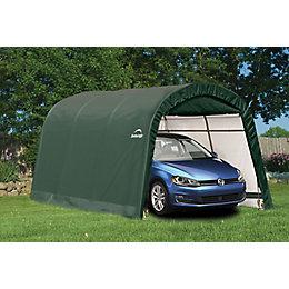 15x10 Shelterlogic Round top Tubular steel frame Auto