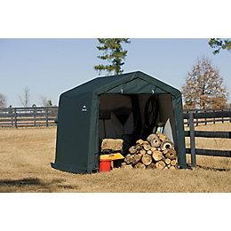 10X10 Shelterlogic Apex Polyethylene Shed In A Box