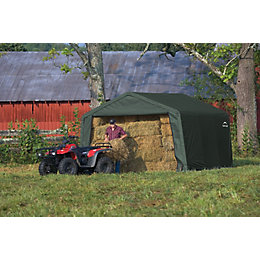 12X12 Shelterlogic Apex Polyethylene Shed In A Box