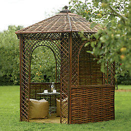 Rowlinson Willow Natural Gazebo with Floor