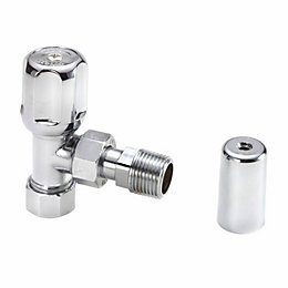 Regis Chrome effect Angled Decorative radiator valve