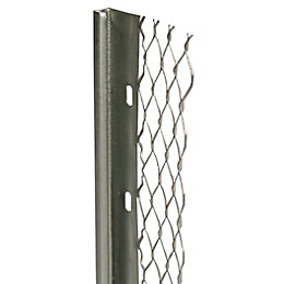Galvanised steel Stop bead (L)2.4m (W)60mm