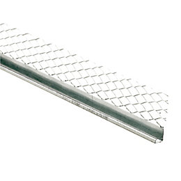 Galvanised steel Stop bead (L)2.4m (W)57mm