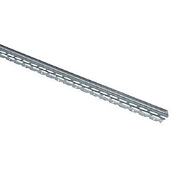Galvanised Steel Board Edging Bead (L)3000mm (W)25mm