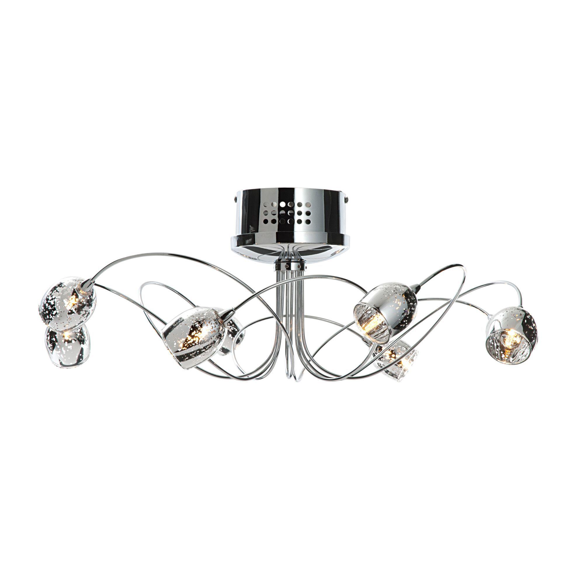 Aero chrome effect 8 lamp semi flush ceiling light departments aero chrome effect 8 lamp semi flush ceiling light departments diy at bq aloadofball Image collections