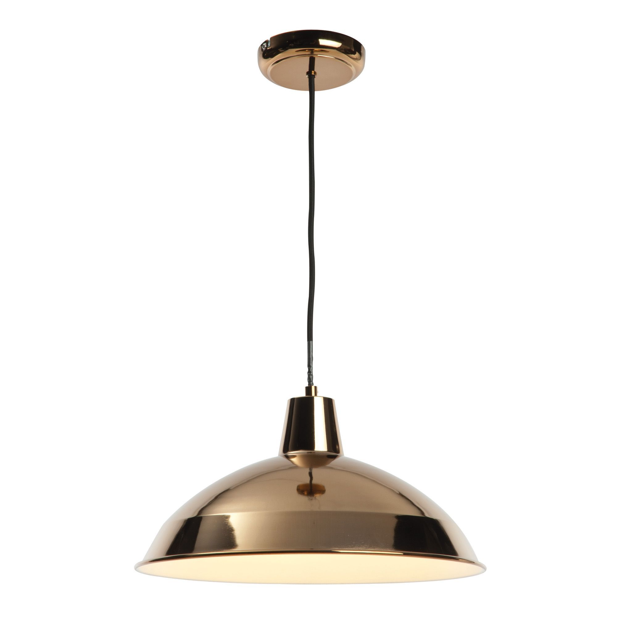 Outdoor Lamp Post B Q: Manison Dome Copper Pendant Ceiling Light