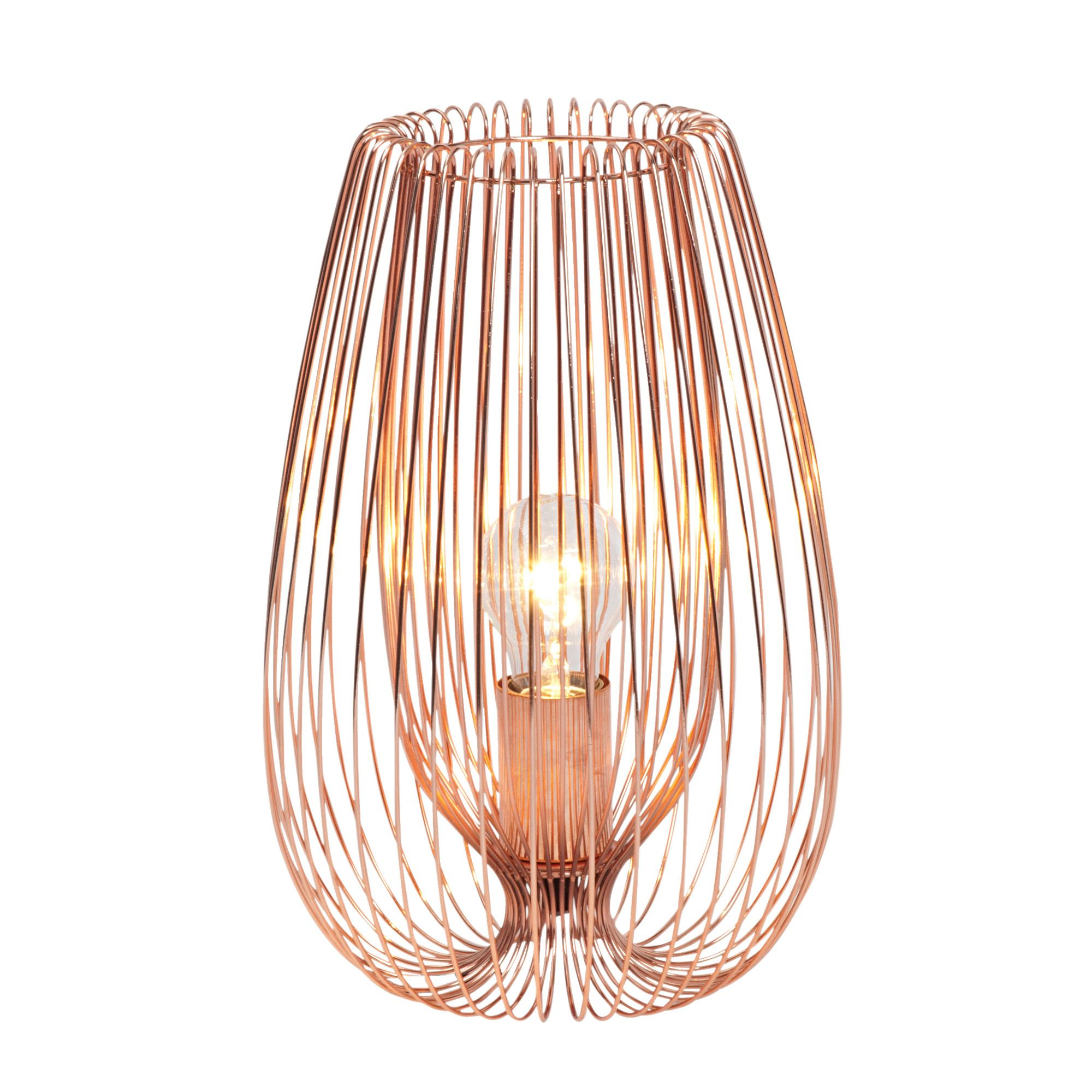Jonas Copper Effect Table Lamp Departments Diy At B Amp Q