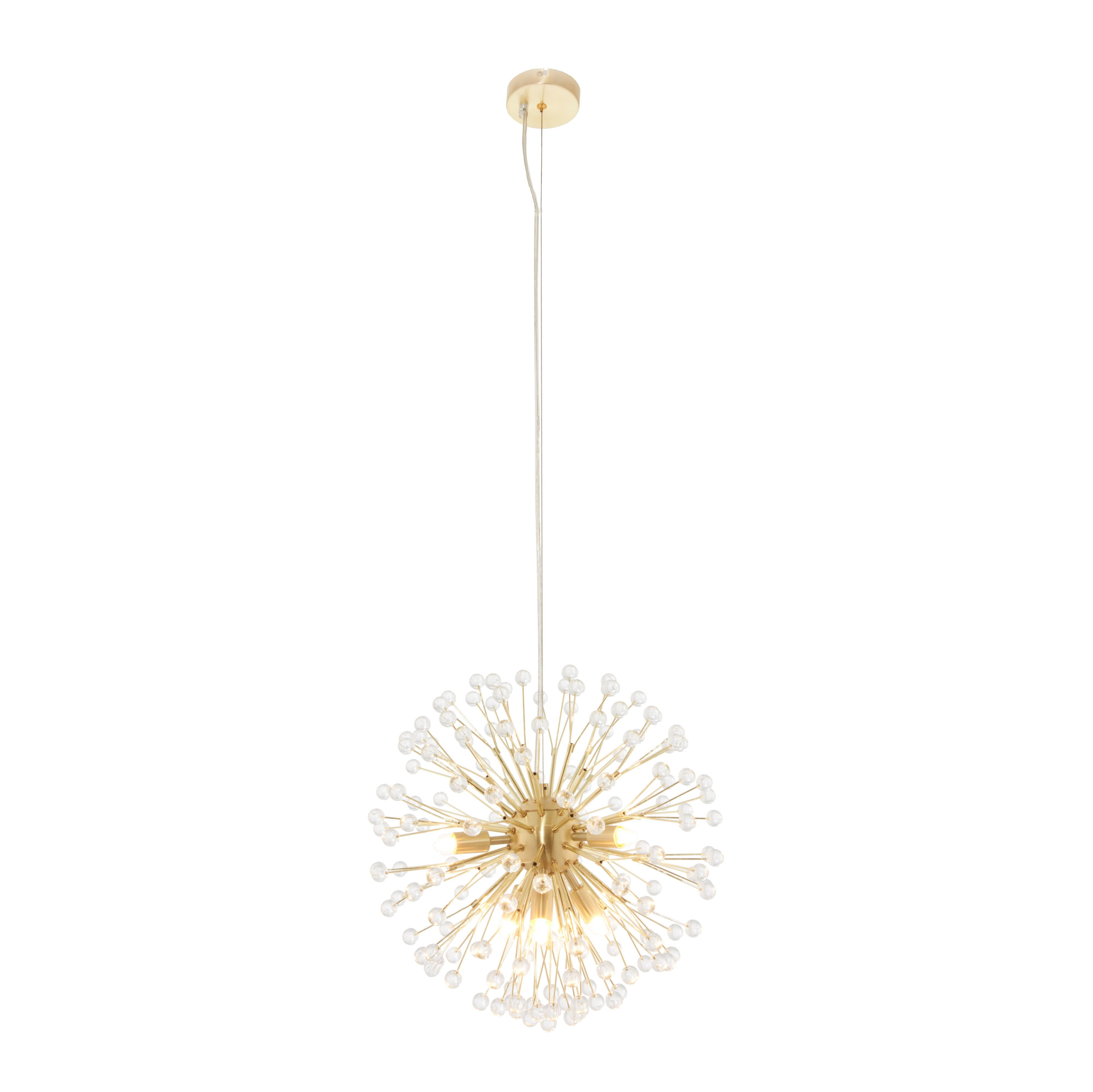 Toulouse Multi Arm Cluster Brushed Gold Effect 6 Lamp