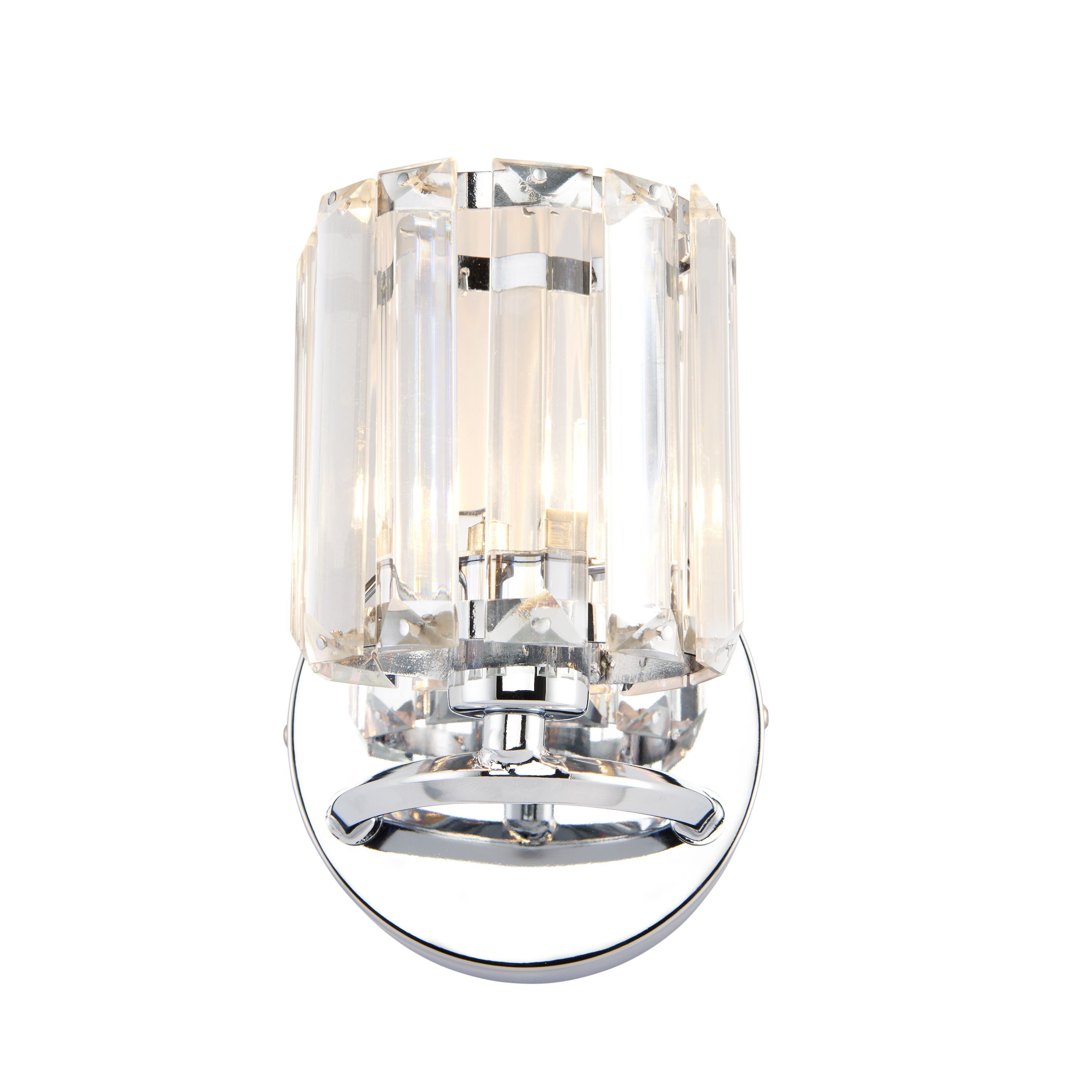 Bromley Chrome Effect Wall Light | Departments | DIY at B&Q