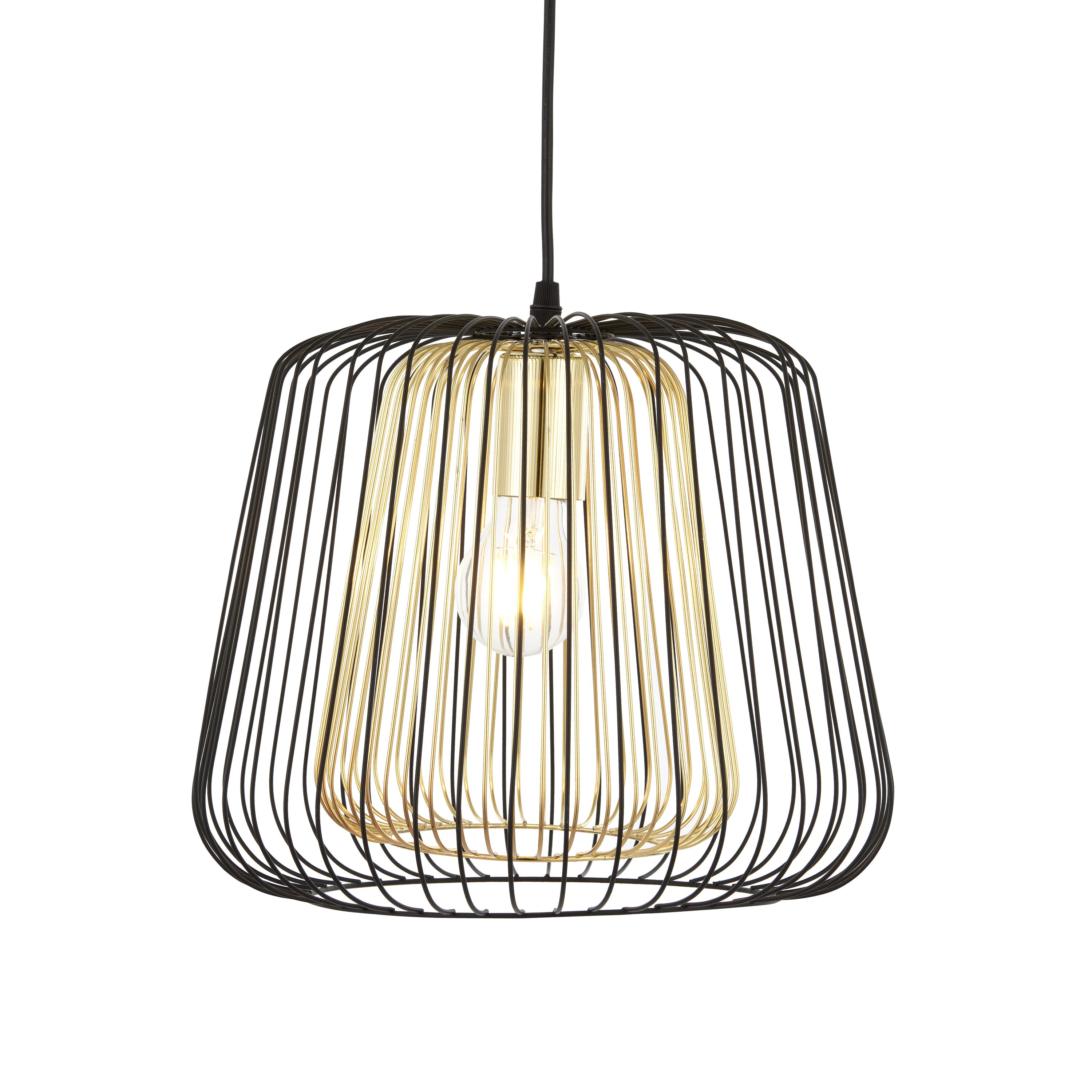Camparo Wire Black Amp Gold Pendant Ceiling Light