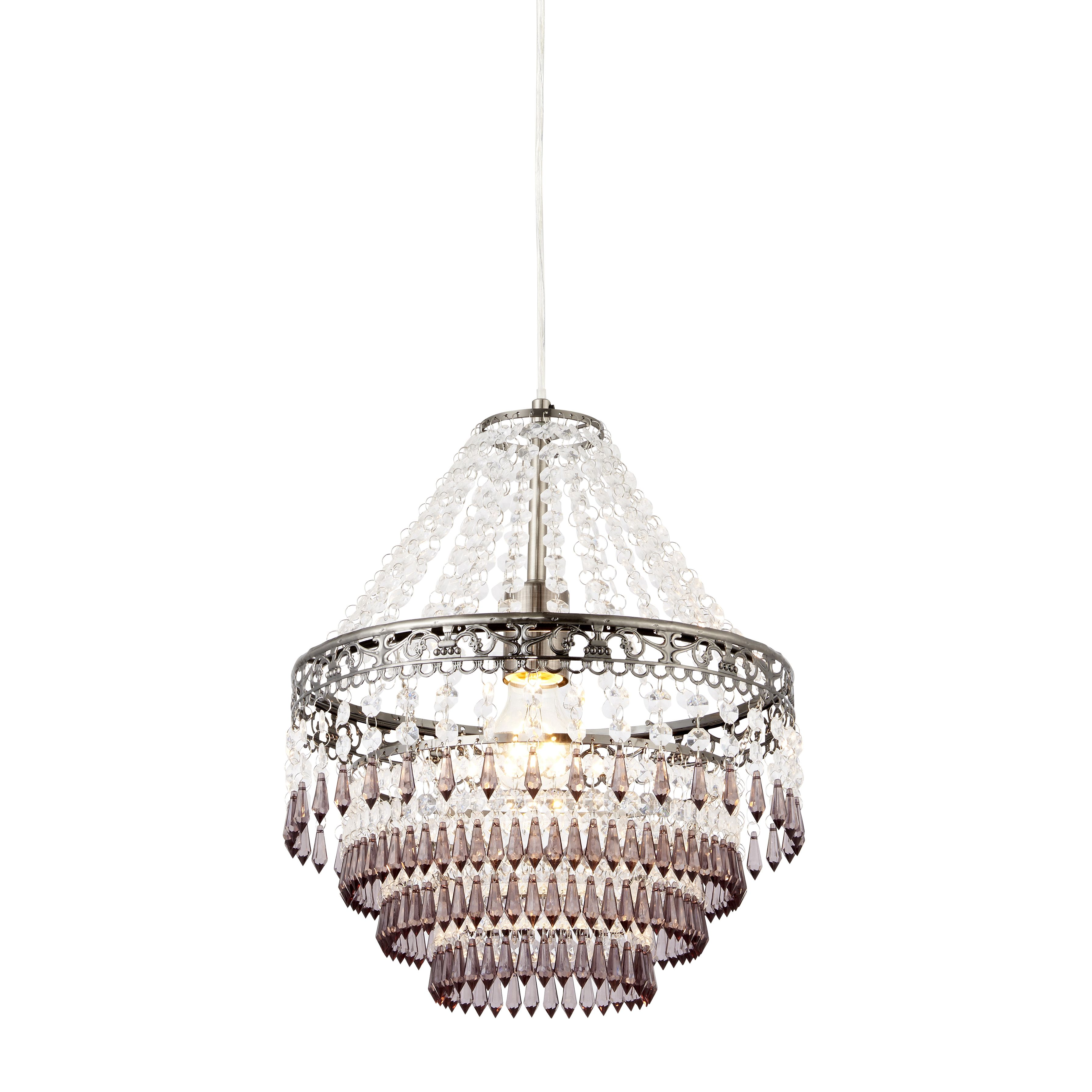 Corinna crystal beaded pewter pendant ceiling light departments corinna crystal beaded pewter pendant ceiling light departments diy at bq aloadofball Image collections
