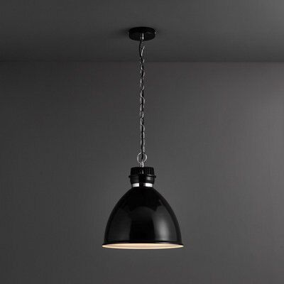 Lofty Black Gloss Pendant Ceiling Light Departments