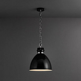 Lofty Black Gloss Pendant Ceiling Light