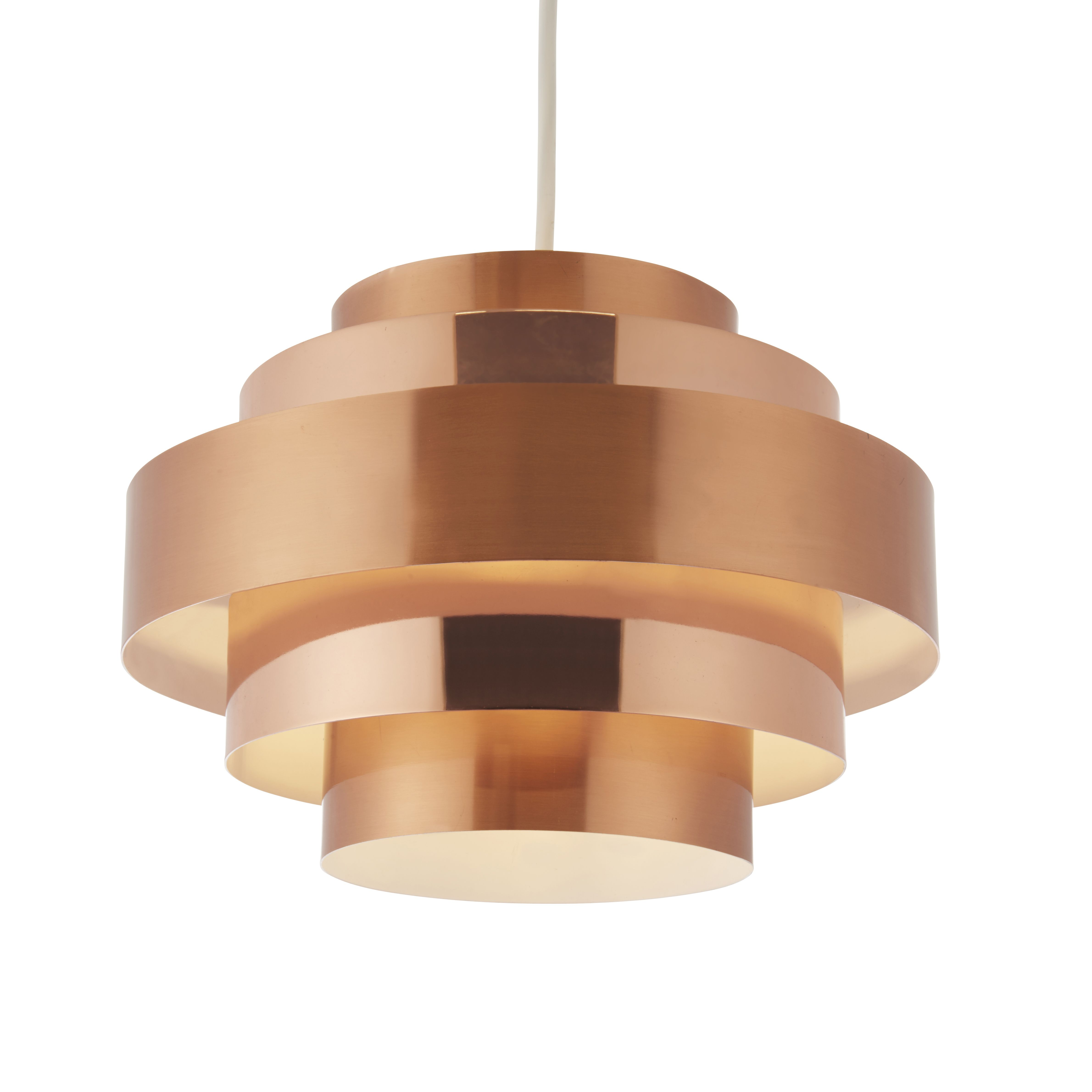 Rizo Copper Brushed Copper Effect Lamp Shade | Departments | DIY at B&Q
