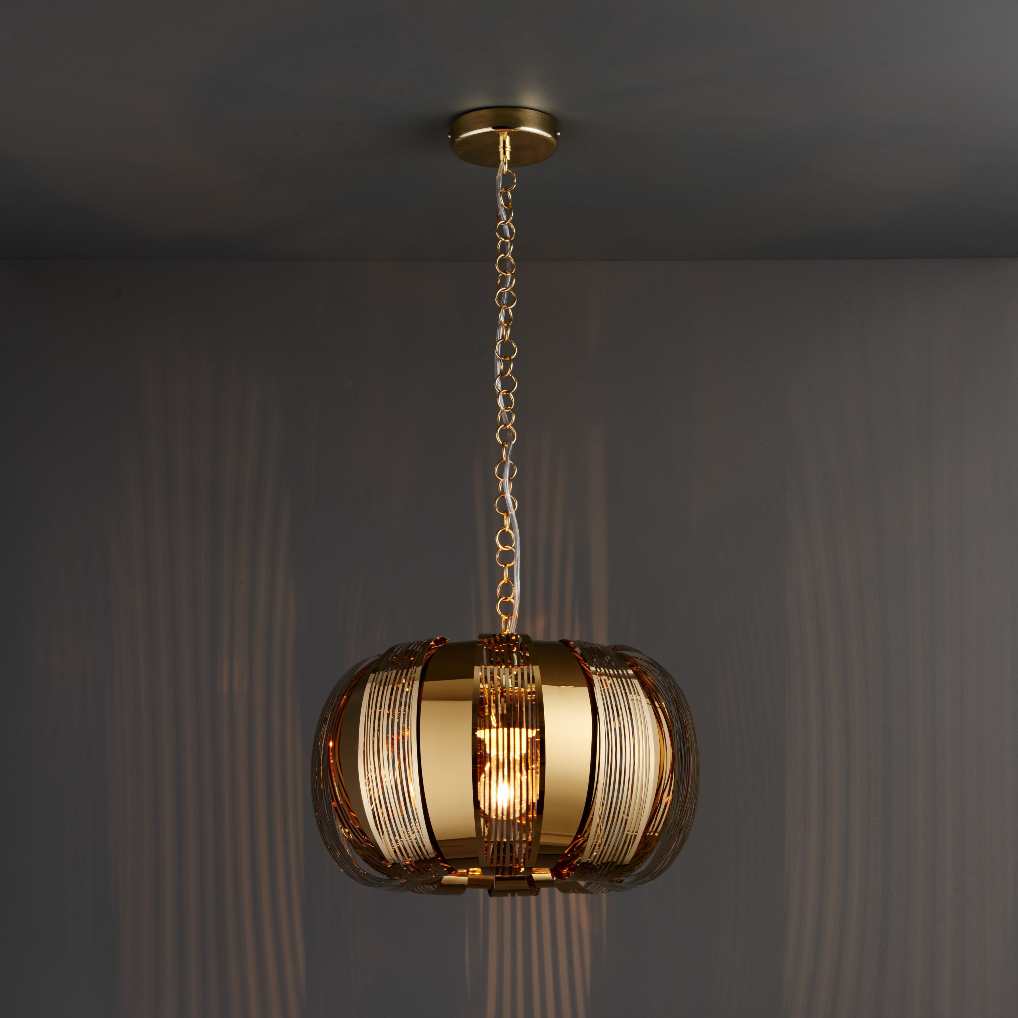 Kory Etched Gold Plated Effect Ceiling Light Departments