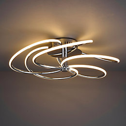 Gigi Modern Chrome Effect 5 Lamp Ceiling Light