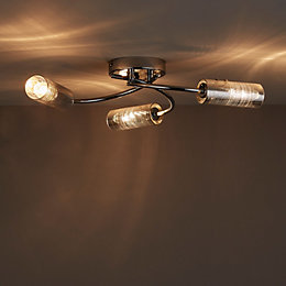 Jojo Chrome Effect 3 Lamp Semi Flush Light