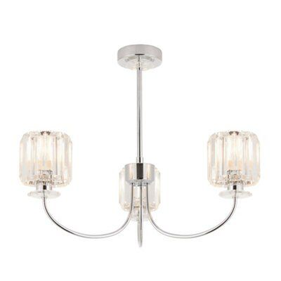 Picture of: Welford Brushed Chrome Effect 3 Lamp Ceiling Light Departments Diy At B Q