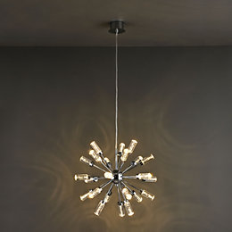 Hubble Modern Chrome Effect Ceiling Light