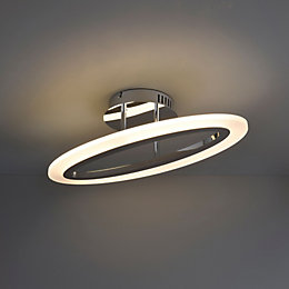 Izarra Modern Chrome Effect Ceiling Light