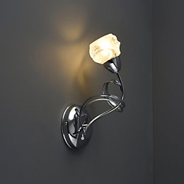 Leonice Modern Chrome Effect Single Wall Light