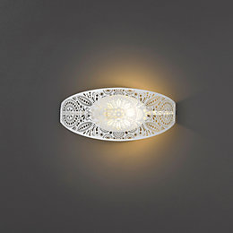 Alira Cutout White Matt Single Wall Light