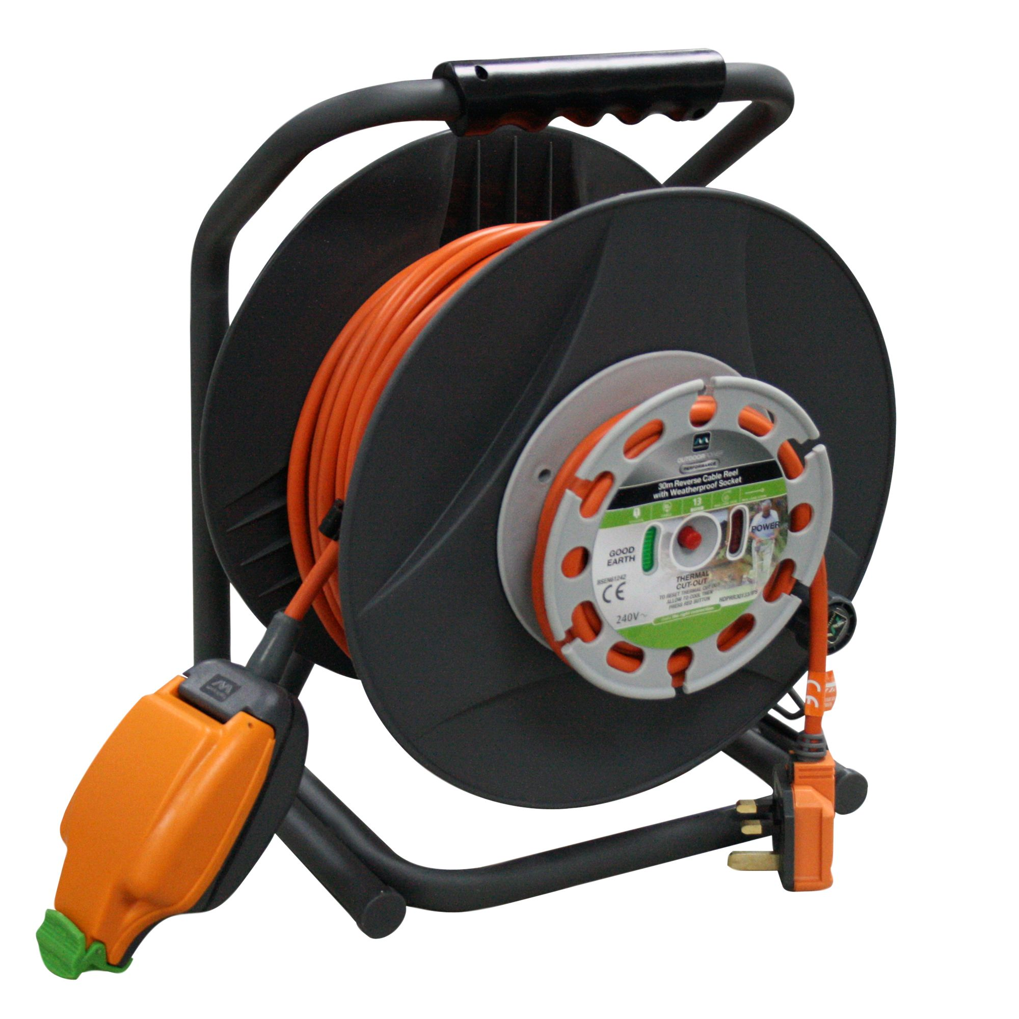 Masterplug 1 Socket 13A Cable Reel (L)30m | Departments | DIY at B&Q