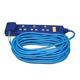 Masterplug 4 Socket 13 A External Extension Lead