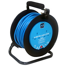 Masterplug 2 Socket 10A Cable Reel (L)15m