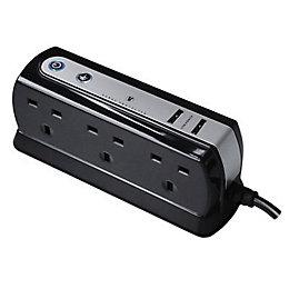 Masterplug 6 Socket 13 A Internal Extension Lead