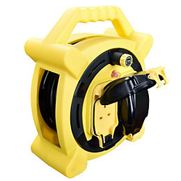 Masterplug 2 socket 13A Cable reel (L)20m