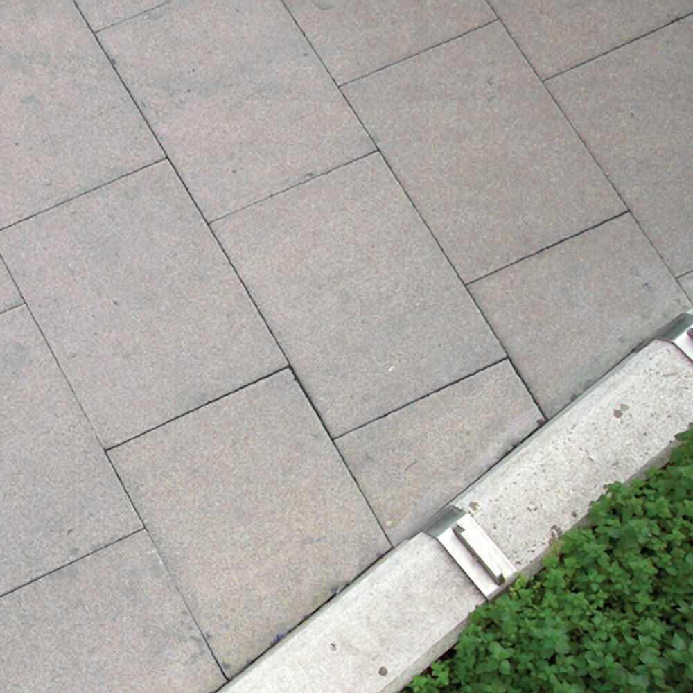 Grey British standard D50 Paving slab (L)900mm (W)600mm