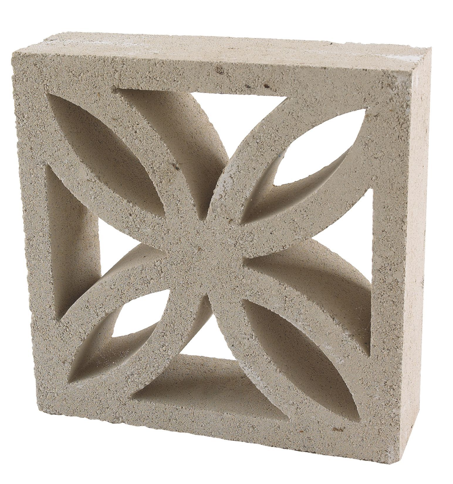 Leaf Block Off White Leaf Block L 290mm W 290mm T 90mm