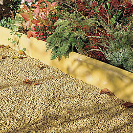 Contemporary Paving edging Buff, (L)600mm (H)150mm (T)50mm