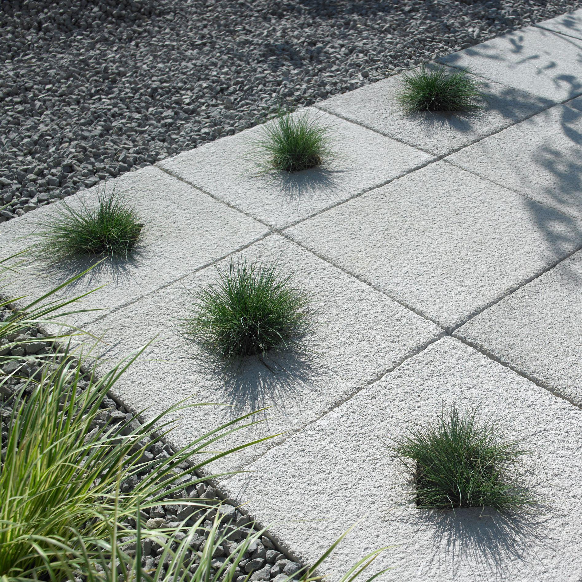 Grey Textured Single paving slab (L)600mm (W)600mm