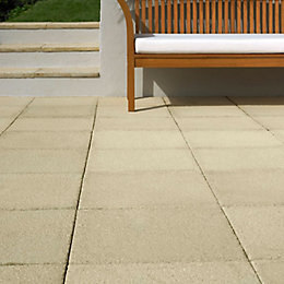 Buff Textured Single paving slab (L)450mm (W)450mm
