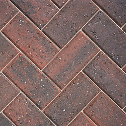 Brindle Driveway Block Paving (L)200mm (W)100mm, Pack of