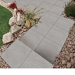 Silver grey Panache Ground Paving slab (L)450 (W)450mm