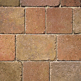 Autumn Woburn Rumbled Block Paving (L)134mm (W)134mm, Pack