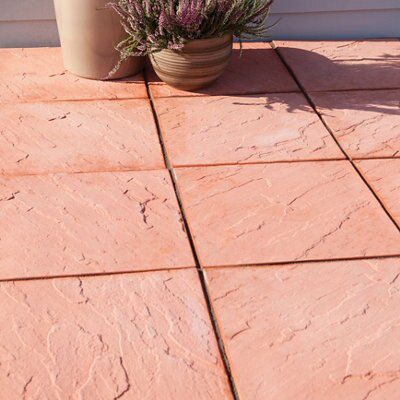 Terracotta Derbyshire Paving Slab L 450 W 450mm Pack Of