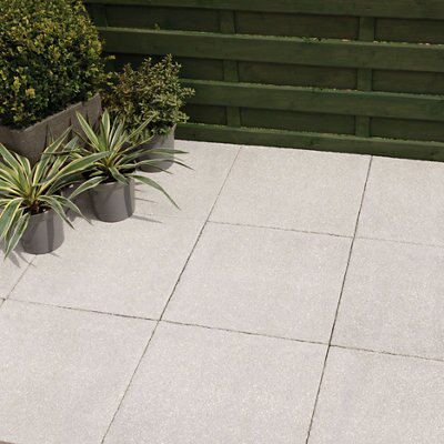 Grey Textured Paving slab (L)450 (W)450mm Pack of