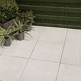 Grey Textured Paving slab (L)600 (W)600mm Pack of