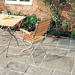 Grey Green Old Town Paving Slab (L)300 (W)300mm