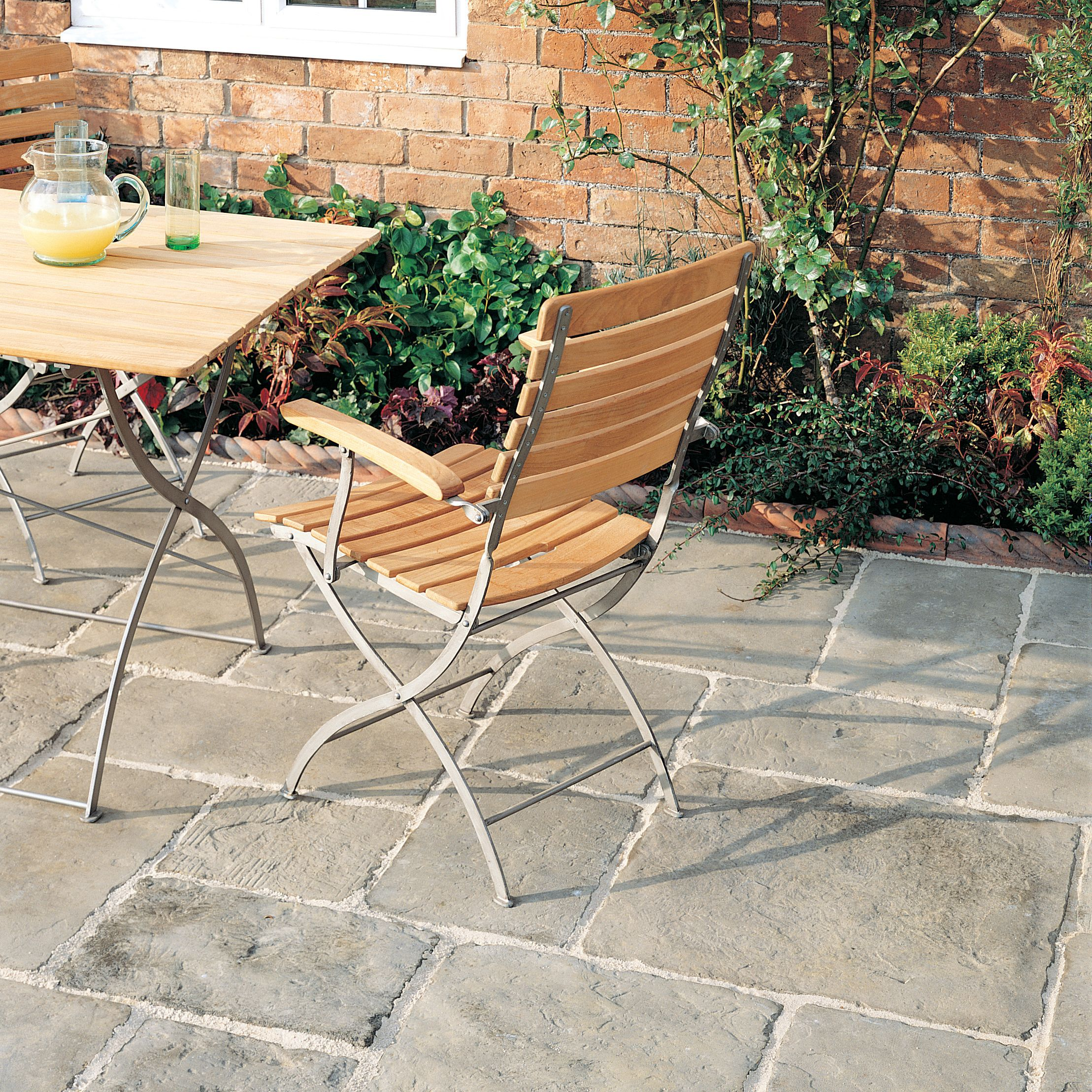 Grey green Old Town Paving slab (L)300 (W)450mm