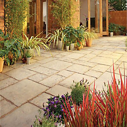 Weathered Limestone Old Town Paving Slab (L)600 (W)300mm