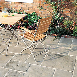 Grey green Old Town Paving slab (L)600 (W)450mm