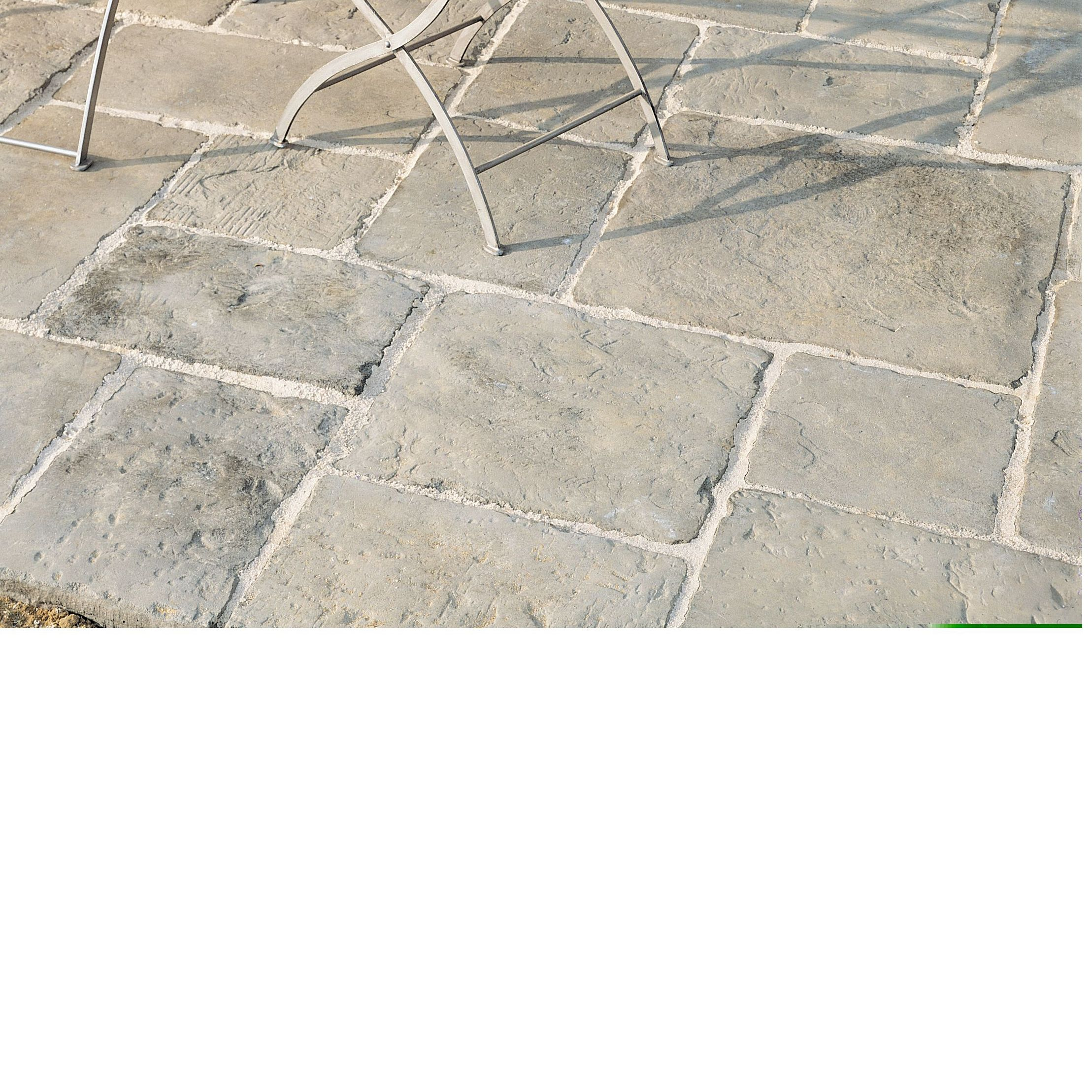 Grey green Old Town Paving slab (L)600 (W)600mm