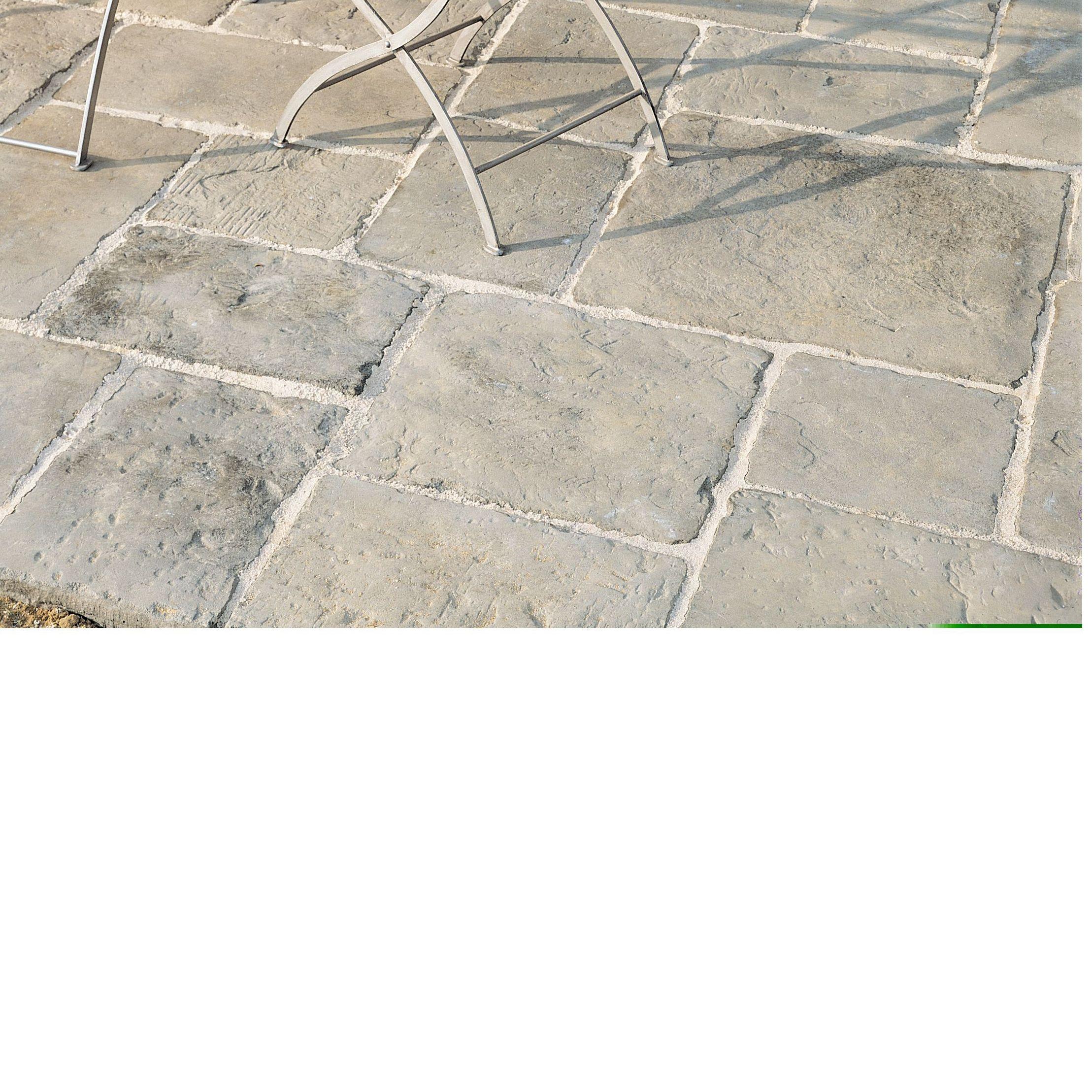 Grey green Old Town Paving slab (L)600 (W)600mm