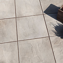 Grey Peak Riven Paving Slab (L)600 (W)600mm Pack